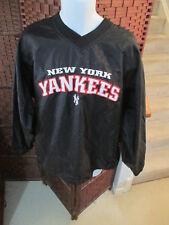 e63ca7041 VTG MLB New York Yankees Black Pullover Windbreaker Shirt Size Large Spell  Out