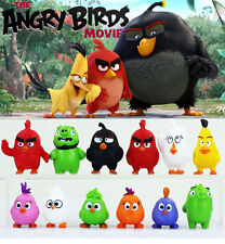 12pcs/Set Angry Birds Figures Toys Doll Cartoon Movie Kids Children's Gift 3-5cm