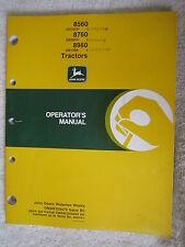 John Deere 8560, 8760, & 8960 Tractor Operators Manual