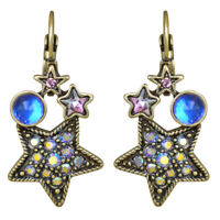 Kirks Folly Moon Magic Leverback Earrings (Brasstone) with Kirks Folly Gift Box