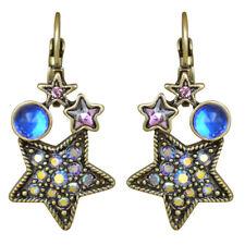 Kirks Folly Moon Magic Leverback Earrings (Brasstone)