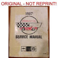 Original 1987 Chevy Corvette Shop / Service Manual w/ Full Wiring Diagrams