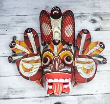"Asian Handmade Wooden Traditional Decorative Cobra Mask 8"" Wall Hanging Art"