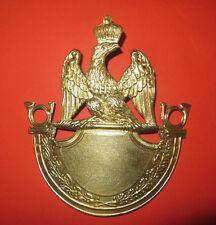 Cuivrerie:Plaque shako 1812 Troupe Chasseur,1er Empire.Napoléon,choix du chiffre