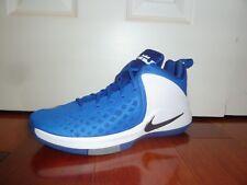 NIKE Zoom Witness Basketball Shoes Mens Sz 13 Blue/White/Grey 852439 400