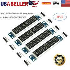 4pcs MAX7219 LED Display 8-Digit 7 Segment Module for Arduino MCU/51/AVR/STM32