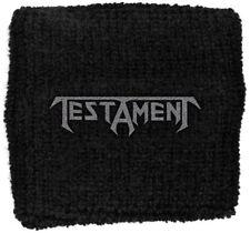 "TESTAMENT - ""CLASSIC LOGO"" - WRIST/SWEAT BAND - U.K. BASED SELLER"