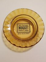 Vintage John Ascuaga's Nugget Hotel Casino Reno Nevada Amber Glass Ashtray