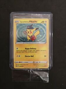 Ultra Rare Special Delivery Pikachu SWSH074 Sealed Promo Limited Ed Pokemon Card