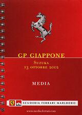 Scuderia Ferrari F1 Media Book Japanese GP 2002.  Italian/English Text.