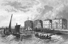 SUSSEX. Bognor. Bartlett in Rowing Boat 1835 old antique vintage print picture