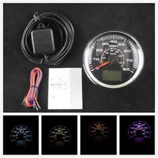 NEW 0-80MPH 0~120km/h 8 Colors Backlight LCD Speed Odometers With GPS Antenna