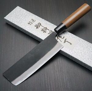 Japanese YAMAMOTO AOGAMI Blue Steel #2 Nakiri Kitchen Knife 165mm Echizen Japan