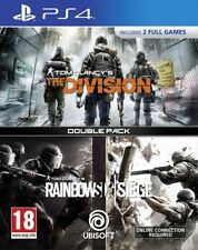 Tom Clancy's The Division + Rainbow Six Siege Double Pack PS4 * NEW SEALED PAL *