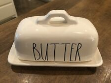 "RAE DUNN Artisan Collection White ""BUTTER"" Dish By Magenta"