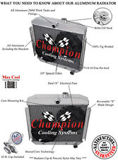 "1955 1956 Chevy Bel Air 3 Row Rockin Champion Radiator w/ 2 x 10"" Fans"