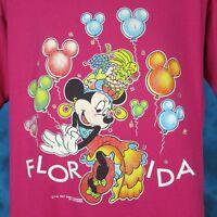 vintage 90s MINNIE MOUSE FLORIDA WALT DISNEY T-Shirt L/XL mickey cartoon thin