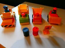 Set of 4 Fisher Price Builders Vehicles and Men