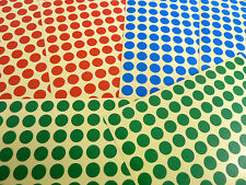Red Blue Green Stickers Small 8mm Circles Round Coloured Sticky Labels BL161