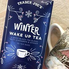Trader Joes Winter Wake Up Hot Cinnamon Black Tea Bags Spicy Ginger Vegan Canela