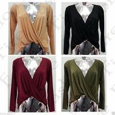 Unbranded V-Neck Solid Tops & Shirts for Women