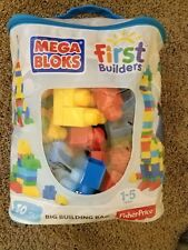 New girls Building Blocks Mega Bloks Lego, First Builders Big Bag 80 Pieces Pink