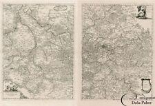 2 Mappe  VINCENZO MARIA  CORONELLI  Parigi 1692   RARA