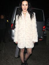 STELLA McCARTNEY Cream/Ivory Mohair Furry coat/jacket/parka IT 42,US 4-6,XS-S