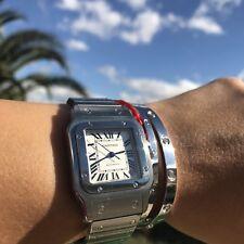 Cartier Santos Galbee XL Steel Unisex Automatic Watch W20098D6 Box
