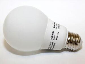 SUNRISE LIGHTING 2 PACK STANDARD SHAPE 20 WATT CFL Energy Saving Bulbs