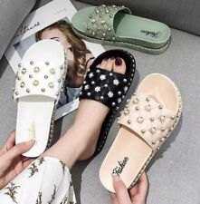 Stylish Rivets Womens Summer Sandals Slippers Beach Outdoor Shoes Fashion Sz