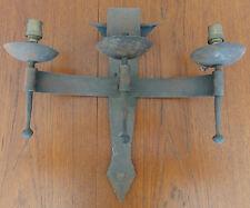 Ancienne Applique Fer Forgée Martelée 3 Bras de Lumière. Vintage Iron Light.