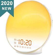NEW Wake Up Light Sunrise Alarm FM Clock Radio Sunrise Simulation Nightlight