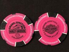 "Harley Poker Chip Golf Ball Marker (NEON Pink) ""Grand Junction"" CO NEW DESIGN"