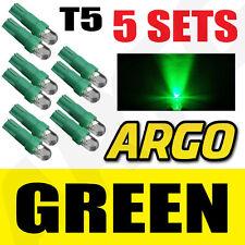 5x Sets T5 286 Led ULTRA VERDE Bombillas del salpicadero Xenon 12v Luz