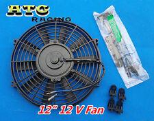 "UNIVERSAL SLIM 12"" PULL/PUSH RADIATOR ENGINE BAY COOLING FAN + MOUNTING 12 inch"