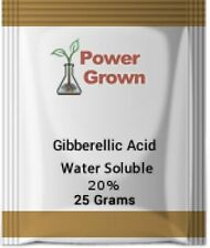 Gibberellic Acid 20% 25 Grams Water Soluble With Instructions Spoon and Rebates