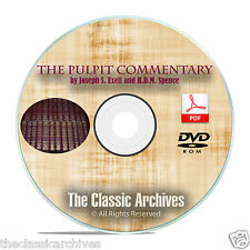 The Pulpit Commentary, ALL VOLUMES Pence-Exell Christian Bible Study PDF DVD F02