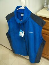 Columbia Mens Extra Large - Steens Mountain - blue/dark gray Fleece vest
