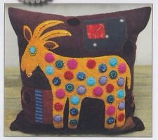 PATTERN - Goat Pillow - applique & embroidery cushion PATTERN - Sue Spargo