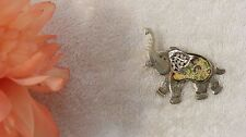 Pachyderm Trunk Ears Silver Tone Vl-Av Pin Brooch Elephant Circus Tent African