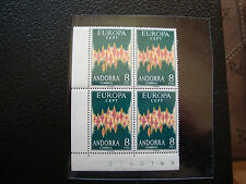 ANDORRE (espagnol) - timbre yt n° 64A x4 n** (europa) (Z0) stamp andorra