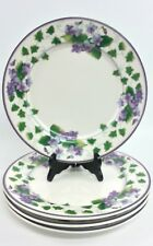 Waverly Garden Room Sweet Violet 4 Dinner Plates 11""