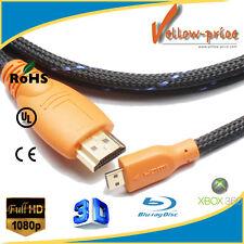 Micro HDMI A to D M/M Cable 15FT w/Nylon Net for Smartphone KindleFire HD 1080P