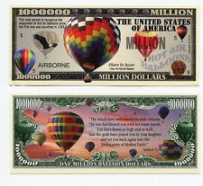 HOT AIR BALLOON     MILLION DOLLAR BILL