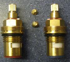 2 De Cerámica 1/4 turn tap válvula insertos glándulas hot&cold 20 Spline 7,7 mmx14.5 mm 03