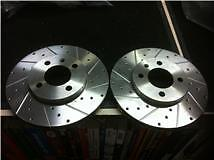 VW VENTO  FRONT DRILLED GROOVED BRAKE DISCS