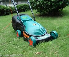1000W Automatic Home Security Convenient Blue Electric Lawn Mower