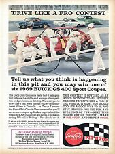 1968 Coca Cola Pit Stop Win A 1969 Buick GS 400 Sport Coupe & Racing Poster Ad