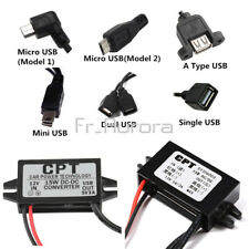 6 Kinds DC-DC 12V to 5V Mini/Micro/A type USB Converter Step Down Power Adapter